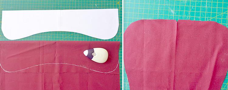 Modello cucito per cuscino lettura a forma di osso - Istruzioni e template